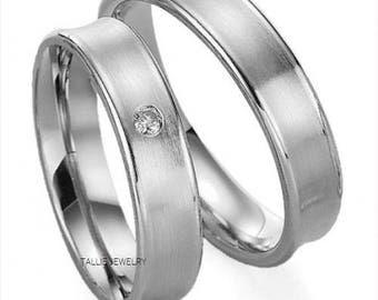Mens Womens Platinum Wedding RingsHis And Hers BandsPlatinum Matching Rings