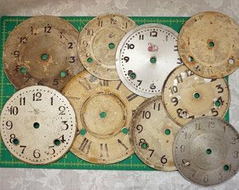 9 Vintage Clock Faces
