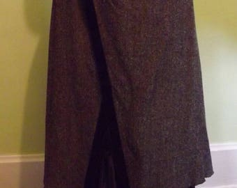 Vintage NWT SteamPunk Look Tweed Skirt Ready to Ship