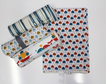 Primary Colors: ORGANIC Changing Pad, Waterproof Travel Size Changing Pad, Baby Changing Mat, On the Go Changing Mat
