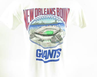 Vintage 80s New Orleans Bound Giants T-Shirt L Football NFL  Deadstock [I10E_0-8]