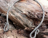 Forged Iron Torc Necklace Viking Medieval Nordic Costume Reenactment LARP Jewelry