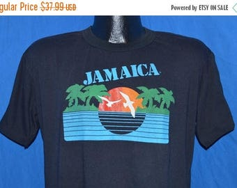 ON SALE 80s Jamaica Sunset Island Palm Trees Vacation t-shirt Large