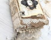 """GERESERVEERD voor Jennifer - handgemaakte dagboek... """"Faith"""""""