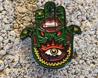 Pop Art Hamsa Enamel Pin