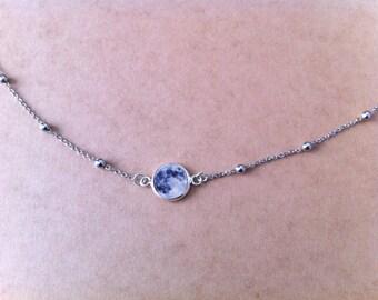 Cabochon Moonstone Choker necklace