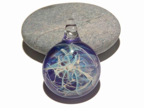 Glass energy pendants creative flow glassworks 7500 glass pendant purple lightning pendant glass art unique bead blown glass jewelry aloadofball Image collections