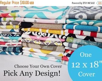 15% OFF SALE 12 x 18 Lumbar Pillow Cover - One Pillow Cover - Choose Your Own Design - Pillow Sham - Accent Pillow - Decorative Pillow - Thr
