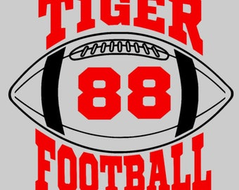 Tiger Football - Add jersey number of your favorite player