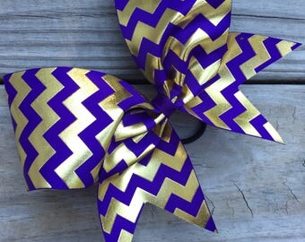 Gold Foil Chevron designs on ribbon. Available in many colors.