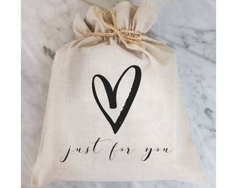 Just For You Gift Bag // Gift Wrap // Packaging Bag // Present // Party Favor // Wedding Favor // Gift Bag // Hostess Gift