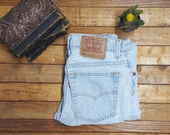"90s Levis 550 w30""highwaisted sz9 long tapered leg relaxed fit"