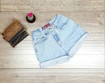 90s denim shorts sz6 old navy