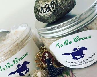To Be Brave; Merida inspired sugar and sea salt scrub (12oz)