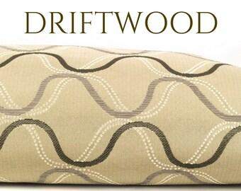 Dog Bed Cover, Waterproof Dog Duvet, Elegant Dog Bed, Designer Dog Bed Cover, Senior Dog Bed, Crypton Dog Bed, Driftwood, Gray Wavy Lines