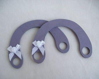 Bag handles, wood, 2 pieces (662)