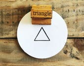 Vintage Triangle Stamp / Wooden Triangle Stamp / The Classroom Printer / Old Wood Stamp / Vintage Wood Stamp / Wood Handled Stamp / Farmhous