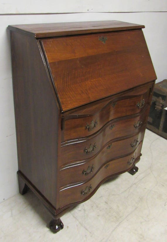 Mahogany secretary desk with slant front