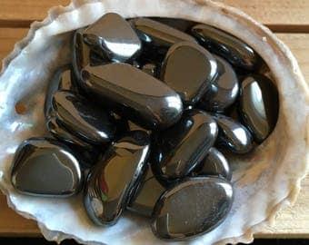Hematite Small Tumbled Stones, Chakra Stones, Spiritual Stone, Healing Stone, Healing Crystal