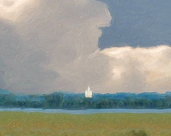 Big Sky of Nauvoo - LDS Mormon Nauvoo Art