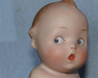 Darling Antique Gebruder Heubach Character Action Baby Cutie German Bisque
