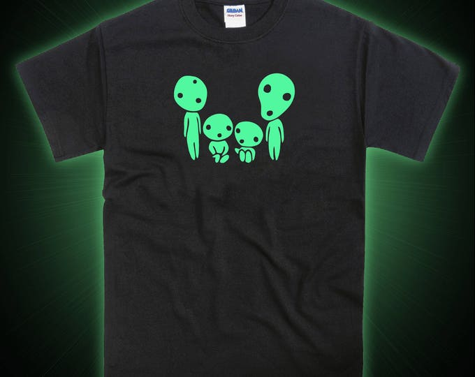 Kodama Family Mononoke Forest Spirit Inspired Glow in the Dark Tshirt
