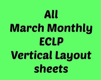On Sale March Monthly Stickers for ECLP  |  All Sheets