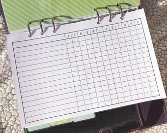 Printed Half Letter Size Monthly Task Trackers