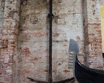 Iron Anchor, Historical Navy, Italian Navy, Gondola, Antique Navy, Bricks, Black Iron