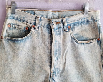 501 Levi Jeans Acid Stone Wash Button Fly 32x34 American Made USA