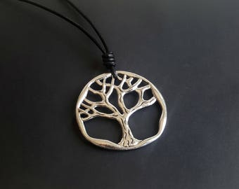 """Chain with leather chain """"tree of life XXL"""" large"""