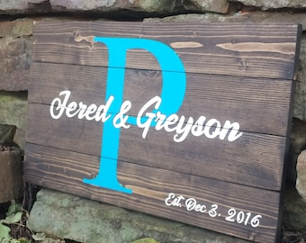 Custom Name Sign | Personalized Name Sign | Wedding Name Sign | Name Wood Sign | Established Date Sign | Wedding Gift Ideas | Rustic Signs