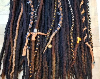 Custom Dreadlock Brown Mix Double Ended Dreadlocks