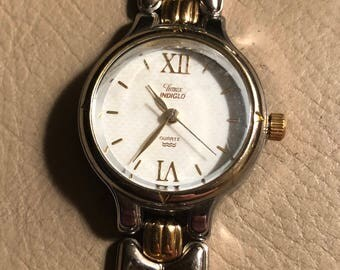 Ladies Timex Watch, Indiglo watch, Gold & Silver Link wristband Vintage Timex Watch.Womens collectible watch