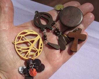 Lot Of Salvaged Boho Pendants Cross Dangles