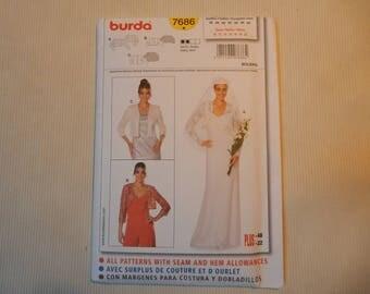 Burda 7686 Bolero Pattern,  Size 10-22