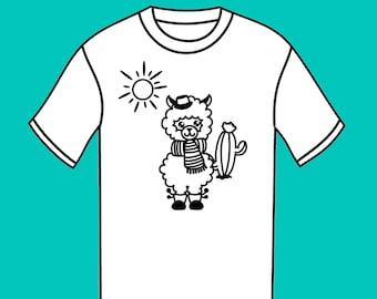 Shirt color - llama