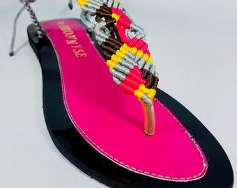 Multi-color Pink Sandal