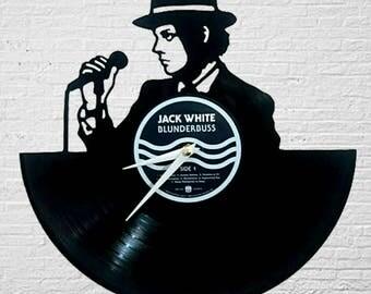 JACK White Vinyl Record Wall Clock