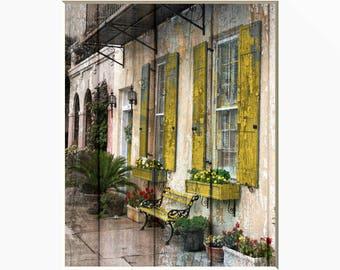 charleston decor. Rustic Home Decor  Charleston Modern Wall Art Matted Picture decor Etsy