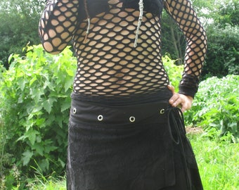 Skirt Rock and Sexy Black Lace, customizable size.