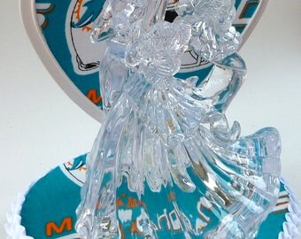 miami dolphin wedding cake toppers dolphin centerpiece etsy 17330