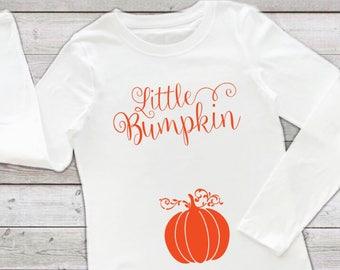 Little Bumpkin T-shirt, Fall Maternity Top, Pregnancy Shirt, Funny Pregnancy Tee, Pregnancy Announcement, Pumpkin Top, Baby Bump Outfit
