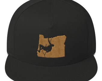 Climb Oregon - Flat Bill Snapback Cap