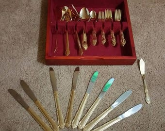 how to clean gold plated flatware