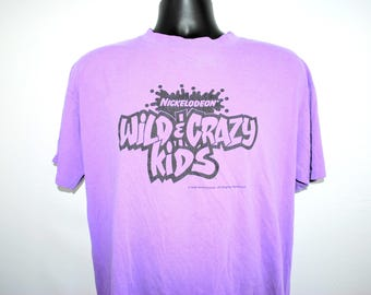 1994 Nickelodeon Wild & Crazy Kids Vintage Classic 90's SNICK Era Kids Competition TV Show Promo T-Shirt
