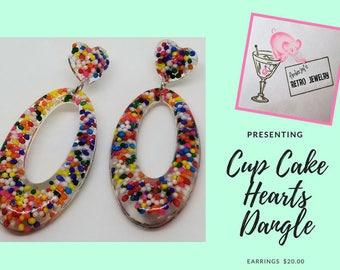 Heart's Dangle Earring's
