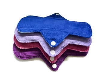 SALE!!!Set of 4 Minky  Reusable Washable Soft Mama Cloth Pad! Choose your size!