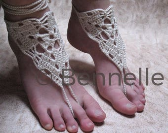 Crochet Anklets, Beach Shoes, Crochet Barefoot Sandals, Yoga Shoes, Bridal Foot Jewelry, Beach Wedding Shoes, Yoga Sandals, Tribal Sandals