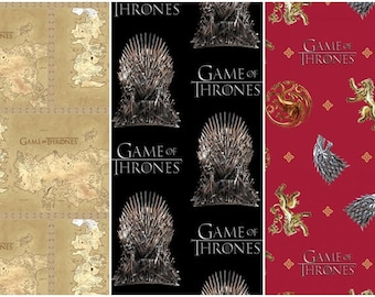 Game of Thrones Cotton Fabric by Springs Creative!  [Choose Your Cut Size]